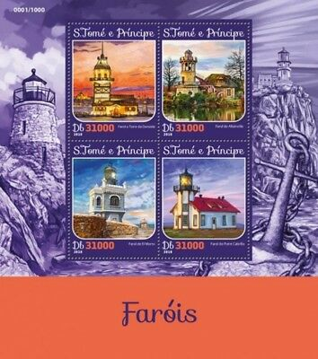 St Thomas - 2016 Lighthouses - 4 Stamp Sheet - ST16215a