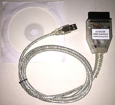 BMW OBD2 USB K+DCAN BMW Diagnose Interface INPA/Ediabas NCS NFS DIS SSS GT1,WOW