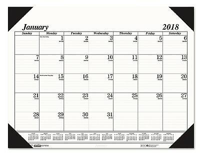 BlueLine Year 2017 Desk Pad Calendar Chipboard Large Monthly Office Daily Yearly
