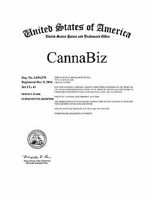 CannaBiz® a REGISTERED Federal Service Mark is FOR SALE