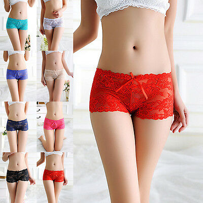 Womens Ladies Sexy Lace Panties Briefs Knickers Lingerie Underwear Shorts Pants