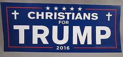 WHOLESALE LOT OF 20 CHRISTIANS FOR TRUMP STICKERS President God Jesus Cross 2016