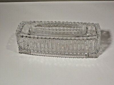 Princess House Highlights Lead Crystal Cigar Box With Tray Lid Excellent