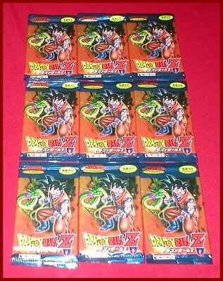 Lot of 9 Dragonball Z Booster Card Game Pack NEW SEALED