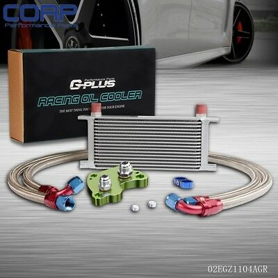 Gplus 16 Row Engine Oil Cooler Kit For Mini Cooper S Supercharger R53 01-06 GR