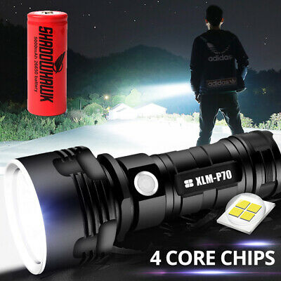 8000lm ShadowHawk X800 LED Tactical Flashlight  Zoom G700 Torch 18650 Battery