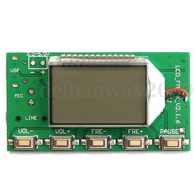 DSP PLL 87-108MHz Digital LCD Microphone FM Radio Stereo Transmitter Module