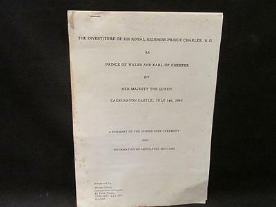 Prince Charles 1969 Prince of Wales & Earl of Chester Investiture Summary