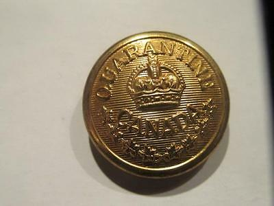 Quarantine Canada Pre-WWII 23MM Brass Uniform Button