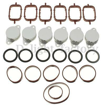 6x 33MM SWIRL FLAP BLANKING BUNGS & Gaskets for BMW 325 330 335 530 525 535 730D