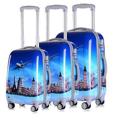 4 Wheel Luggage Suitcase Trolley Holiday Travel Bag Case 5 Piece Set Hard Shell