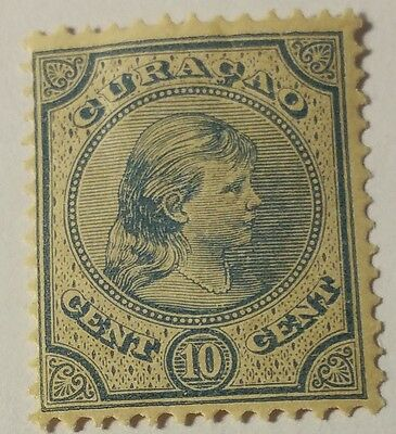 Curacao   Scott#19  Cat Value At $3.00 Mint/h.....worldwide Stamps