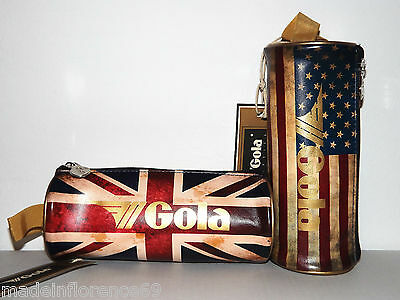 Gola Case School Rogers Vintage Gold English Flag Or Americana Cub601 602