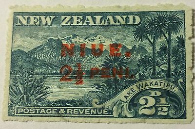 Niue  Scott#18  Cat Value At  $35.00 Used ..worldwide Stamps