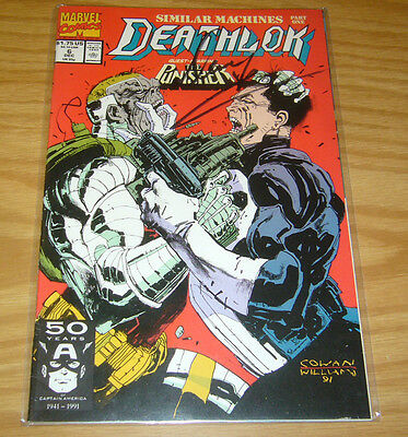Deathlok #6 VF/NM signed by denys cowan with COA (limited to 6,000) punisher