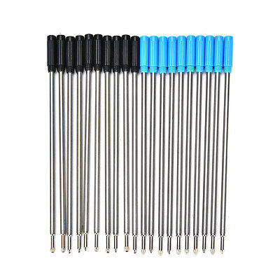 10Pcs Cross Type Ballpoint Pen Refills Ink Medium & Black Blue JR