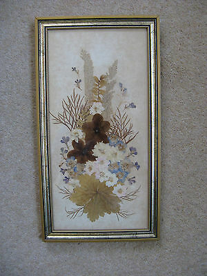 An Interesting Picture using pressed flowers. Framed