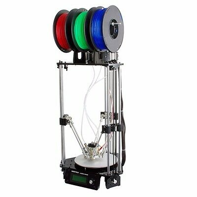 Geeetech Rostock 301 Mix Color 3D Printer 3-in-1-out Triple-color Printer