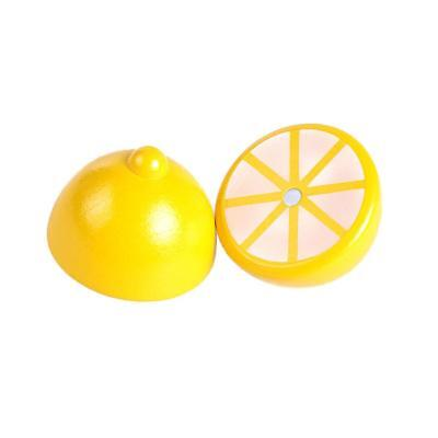 Playhouse Wooden Magnet Lemon Pretend Kitchen Food Boy Girl Role-play Toy