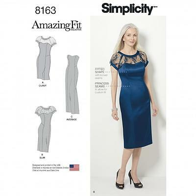 Simplicity SEWING PATTERN 8163 Misses Or Womens Evening Dress In 3 Lengths