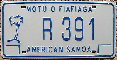 American Samoa Palm Tree License Plate AS #R-391