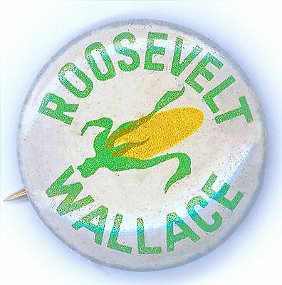 "* Superb  ~ "" ROOSEVELT - WALLACE  AGRICULTURE "" ~ 1940 Campaign Button"