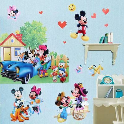 3D Cartoon Micky Minnie Mouse Wand Sticker PVC Wanddekoration Baby Kinder