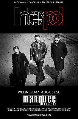 INTERPOL 2014 PHOENIX CONCERT TOUR POSTER - Post-punk Revival, Indie Rock Music