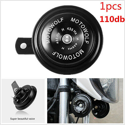1Pcs Black 12V Loud Motorcycle 110DB Loud-tone Snail Electric Air Horn Universal