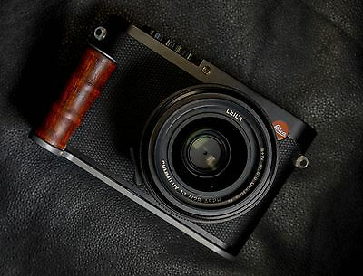 New Hand Made Wood Red Steel Hand Grip Handgrip for Leica Q Digital Camera