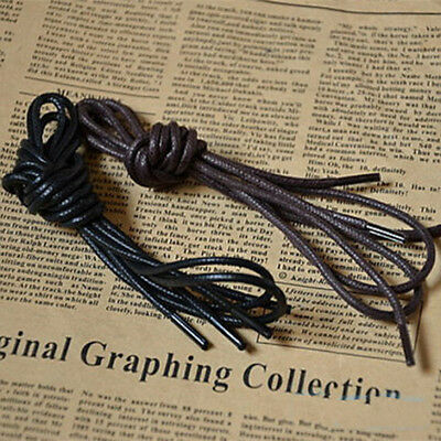 Practical Waxed Round Shoelaces Leather Shoe Laces Men Women Martin Boots String