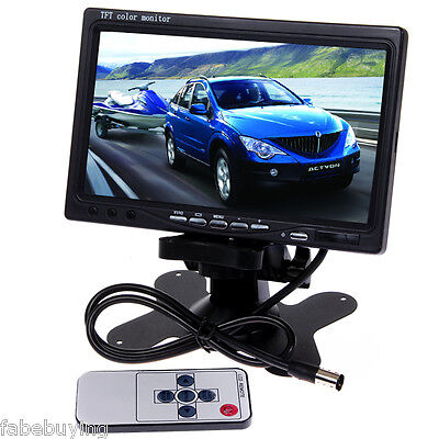 """7""""TFT Color LCD Car Rear View Headrest Monitor DVD VCR Monitor 2 Video Input UK"""
