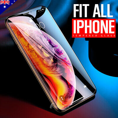 2XAnti Scratch Tempered Glass Screen Protector Apple iPhone XS Max XR 8 7 Plus 6