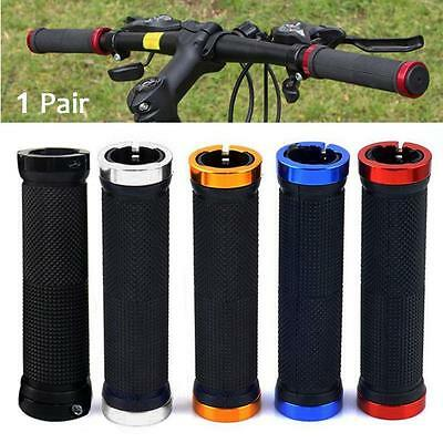 1 Pair Double Lock-on Mountains Bike Bicycle Cycling Handle Bar Cyclist Grips BS