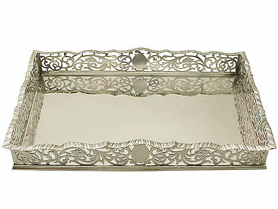 Sterling Silver Gallery Tray/Salver - Antique Edwardian