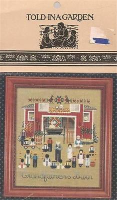 Cross Stitch Pattern Chart Told In A Garden Grandfather's Barn