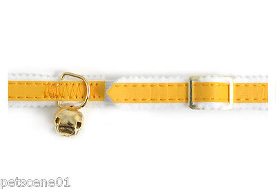 Ancol Safety Elasticated Reflective Yellow Cat Collar + Bell
