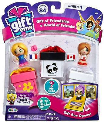 Jakks - Gift Ems Series 1 - 3 Pack Multipack (Styles Vary, One Supplied) - New