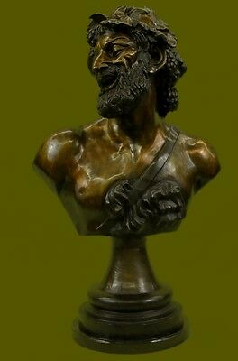 Handcrafted Original Giancarlo Bacchus Signed Bronze Sculpture Collector Statue