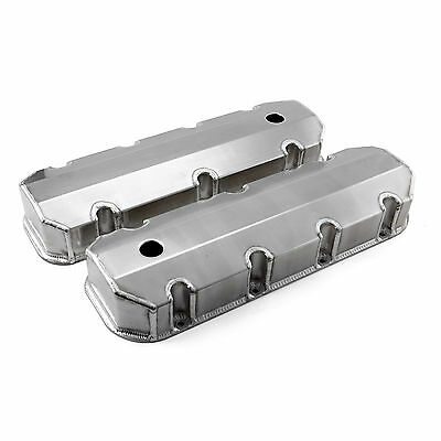 Chevy BBC 454 Polished Fabricated Valve Covers - Tall w/ Hole
