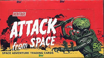 Mars Attacks Heritage ''Attack From Space '' Variant Box Sealed Box 24 Packs