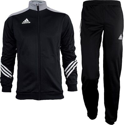 Adidas Sereno 14 men's track suit black/gray/white jogging sports training NEW