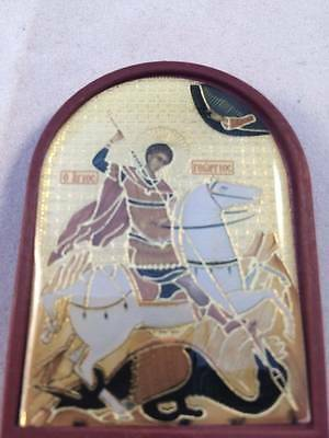 Orthodox Christian Byzantine stand or hanging Icon print St. George Great Martyr