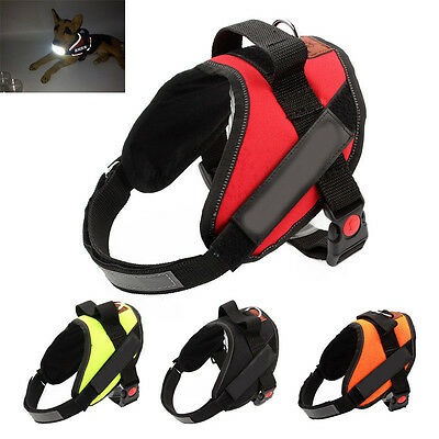 New Power Harness Strong Adjustable Reflective Dog Puppy Harnesses Comfort Soft