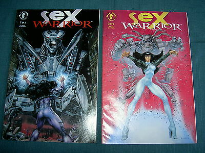 SEX WARRIOR : COMPLETE 2 ISSUE SERIES by MILLS,SKINNER & McKONE. DARK HORSE.1993