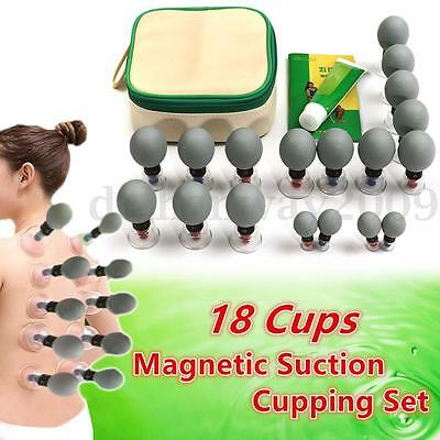 18Cup Slimming Acupuncture Cupping Magnetic Suction Vacuum Massage Theraphy Set