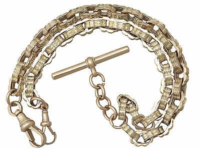 Antique 9 ct Yellow Gold Double Albert Watch Chain, Circa 1900