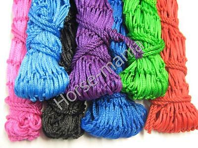"""Pack Of 6 Shires 40"""" Haylage Hay Nets 6.5Kg With Small Holes Assorted Colours"""