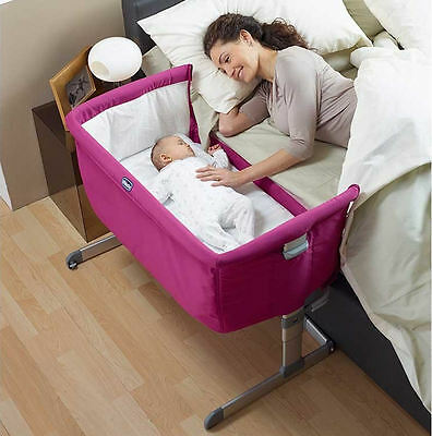 Chicco Fuchsia Special Edition Next 2 Me Height Adjustable Side Sleeping Crib.