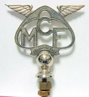 Mcf Moto Club De France Mascotte Badge Insigne Environ 1920-1930